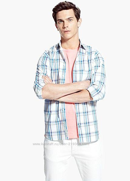 Рубашка мужская MANGO Испания-р. евро ХL