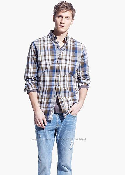 Рубашка мужская MANGO Испания-р. евро М, XL