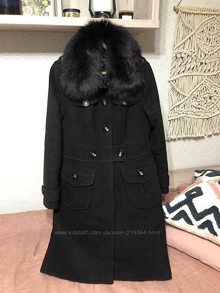 Зимнее кашемировое пальто  NUI VERY  с мехом песца-р. 48
