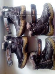 ПродамТепленькие зимние кожаные ботиночки на мальчика UFO, на натуральной ц