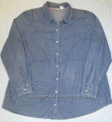 джинсовая рубашка для беременных induetime, р-р XL