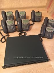 Продам офисную мини АТС Avaya IP Office 500 с 7 цифровыми телефонами