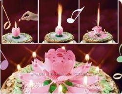 Музыкальная свеча фейерверк ко дню рождения на торт