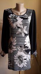 Шикарное платье Принт Шифоновые рукава QUIZ Британия