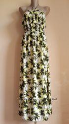 Красивенное Макси платье сарафан Пальмы DOROTHY PERKINS Британия