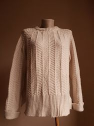 Стильный свитер оверсайз Шерсть H&M Швеция