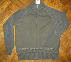 Мужская кофта кардиган итальянского бренда Stefanel, полушерсть, 48-50