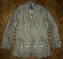 Мужской пиджак Giorgio Armani, Made in Italy, лёнбамбук, разм. 48, 50