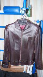 Кожаная женская куртка-пиджак