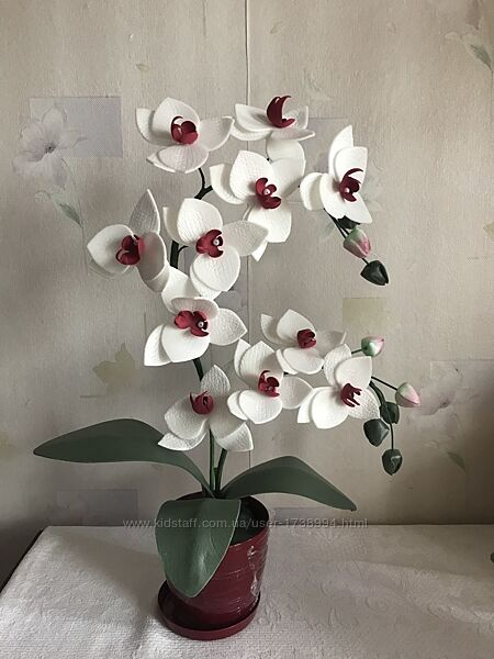 Орхидея. Цветы из изолона
