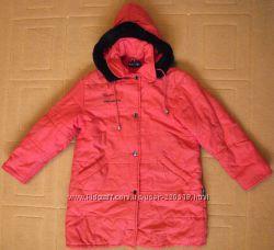 Фирменная куртка пальто Amadeo на девочку р. 130