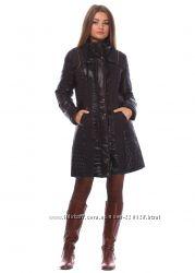 стильное женское утепленное пальто куртка