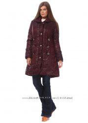 стильное утеплённое женское пальто куртка