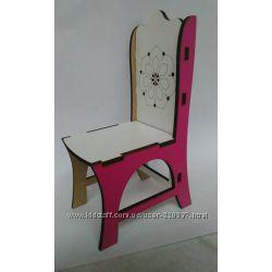 Деревянные стульчики для куол барби, ЛОЛ и других.