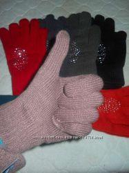 Женские перчатки с начесом.