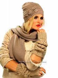 SALE Комплект Venera шапка, шарф, шерсть