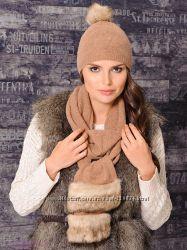 Стильный комплект шапка, шарф Venera