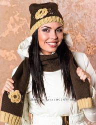 Комплект шарф, шапка, Италия, Venera