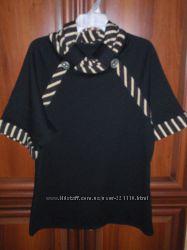 кофта черная с коротким рукавом теплая р 50-52