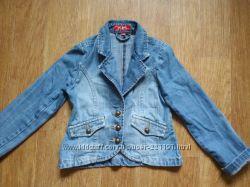 Джинсовая куртка пиджак на девочку рост 128