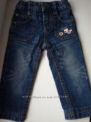 Детские джинсы на мальчика рост 86 утеплённые