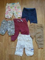 Штаны спортивные, джинсы, шорты на мальчика рост 74 пакетом