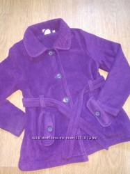 Флисовое деми пальто на девочку