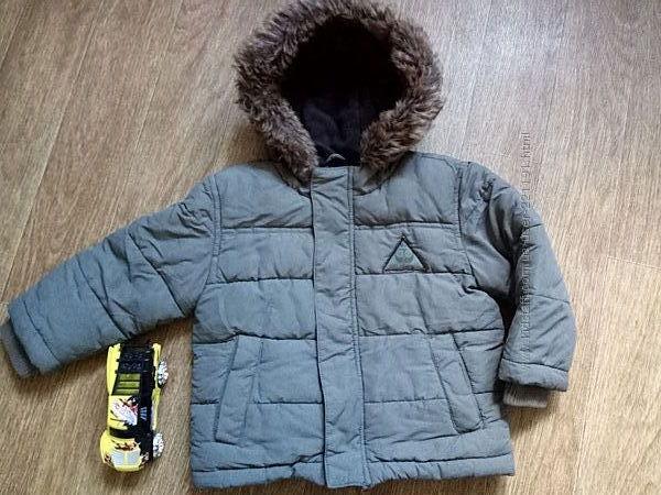 Теплая деми куртка на холодную осень на мальчика рост 98