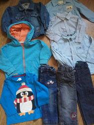 Пакет фирменных деми вещей на весну на мальчика 80-86 рост