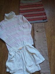 Пакет фирменных вещей на девочку 8-9 лет