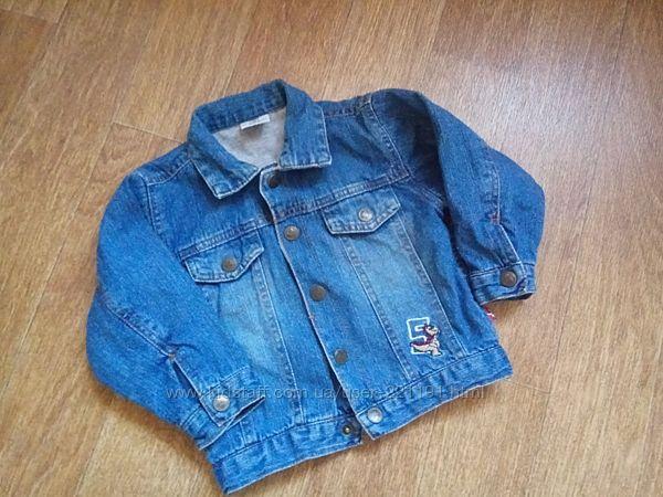 Модная джинсовая куртка на мальчика