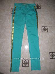 Стильные джинсы скинни мятного цвета Размер 32-38