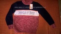 Фирменный яркий свитерок на мальчика, р. 120, 130