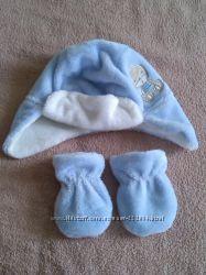 Пушиста шапочка и варежки малышу