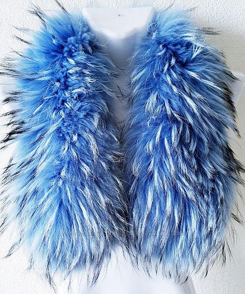 Шикарный голубой мех eнота