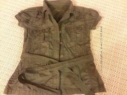 Блузка с поясом EVIE 46р.