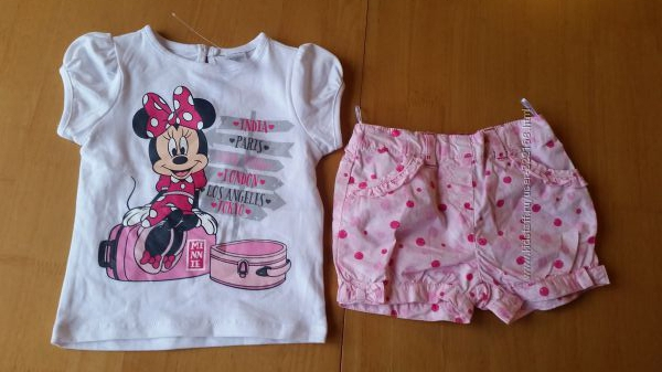 Комплект C&A Disney футболка и шорты на рост 68, 74, 80 см Новый