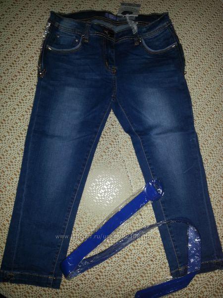 Капри джинсовые р. 38, р. 40, р. 42, джинсы скини Gaialuna р. 42 Новые