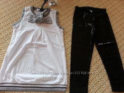 Комплект туника, лосины и браслетик, блузка Gaialuna р. 30 Италия Новый