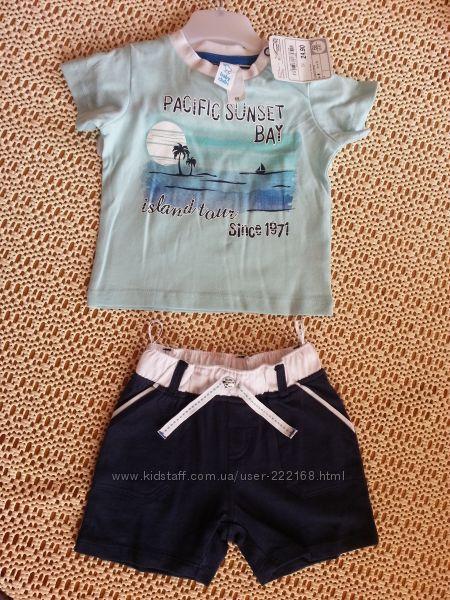 Комплект C&A baby club футболка и шорты на рост 68, 74, 80, 86,  92см Новый