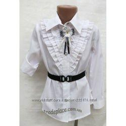 Школьная блузка на девочку р. 128-134 новая