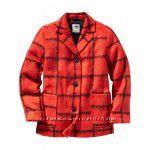 Пальто Old navy 6-12 лет красная и черная клетка