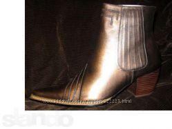 кожаные ботинки Италия бронзовые коричневые бронзового