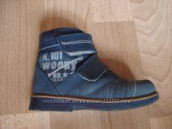 Деми ботинки Woopy на мальчика  на флисе