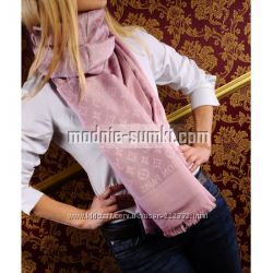 Кашемировый платок Louis Vuitton monogram розовый