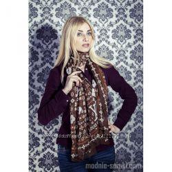 Шелковый платок Louis Vuitton коричневый