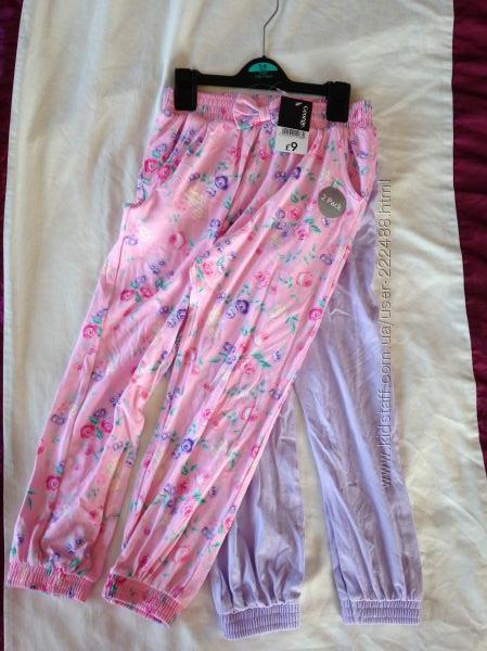 Комплект штаны гаремы на лето George 5-6 лет новые