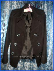 Черное пальто с поясом кашемир женское размер с