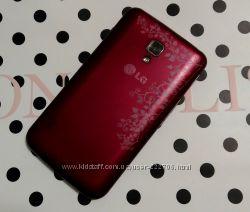 Телефон LG L7 P 715 красный плюс чехлы