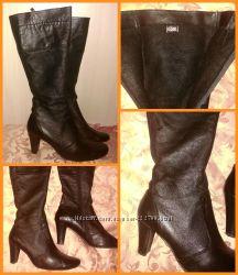 Ботинки осень кожа размер 40 стельки зима в подарок